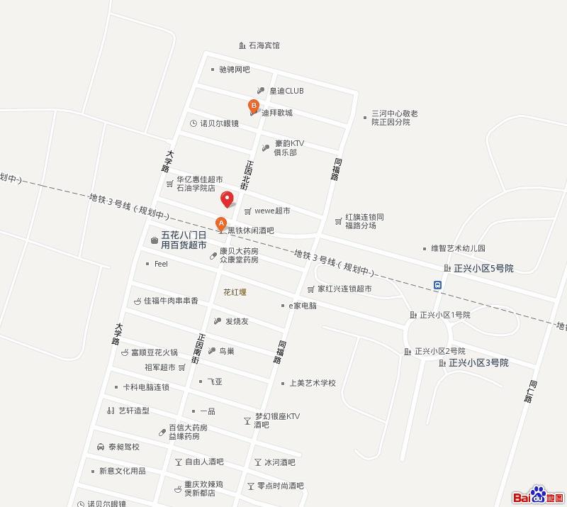 青岛开发区石油大学附近地图