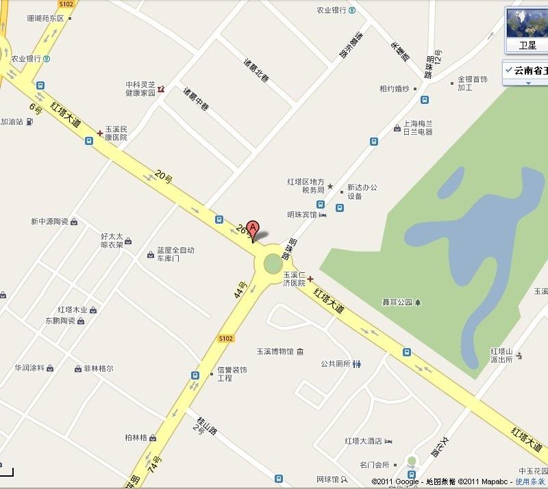 玉溪驾校地图