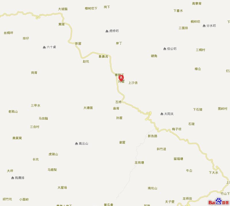 安远县乡镇地图