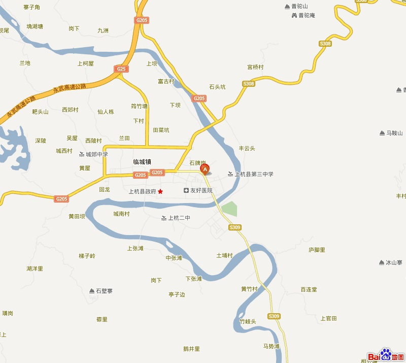 白鹤镇龙穿陕风景区地图