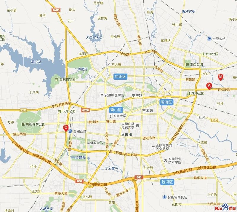 蜀山野生动物园地图