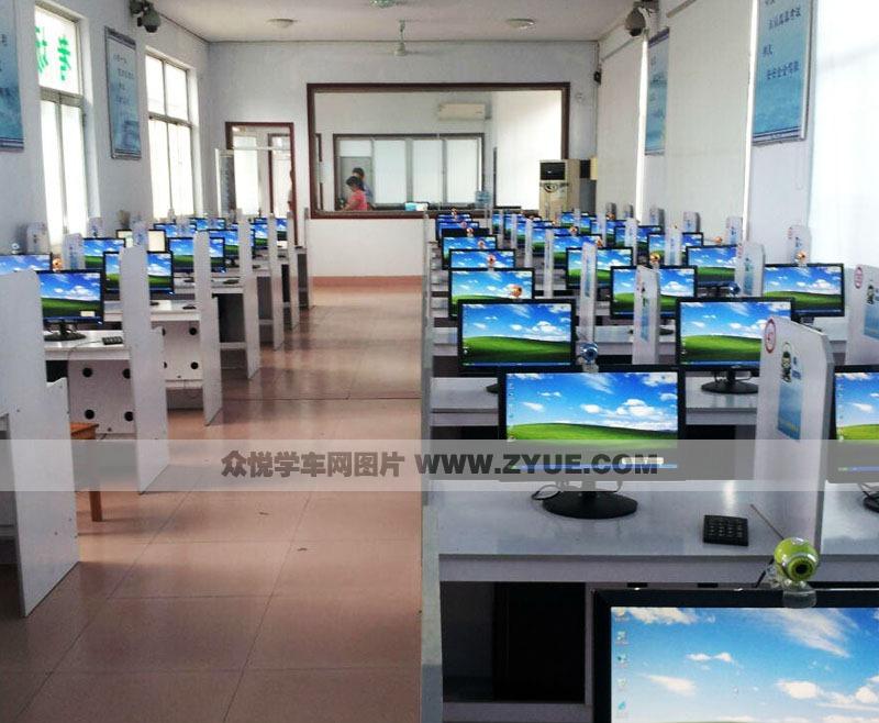 哈尔滨佰顺驾校科目一考试机房