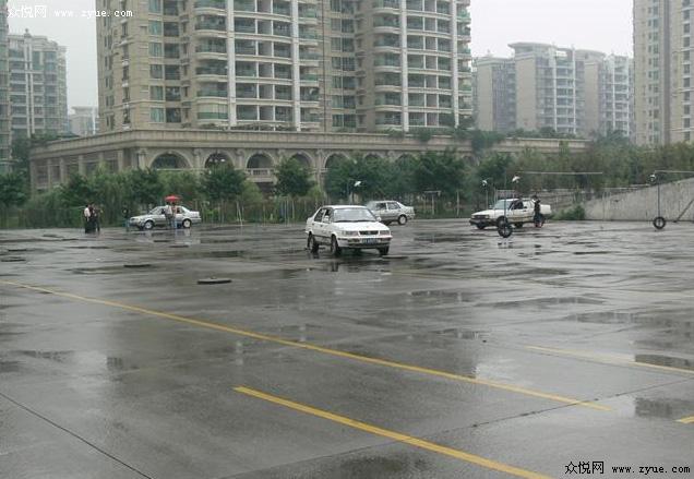 广安驾校训练场地一角